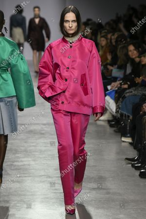 Editorial picture of Lutz Huelle show, Runway, Fall Winter 2020, Paris Fashion Week, France - 28 Feb 2020