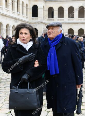 Stock Picture of Anne Sinclair and Pierre Nora