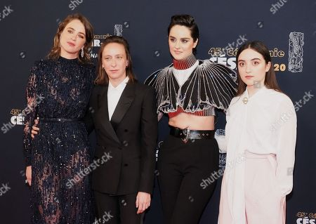 Adele Haenel, Celine Sciamma, Noemie Merlant and Luana Bajrami
