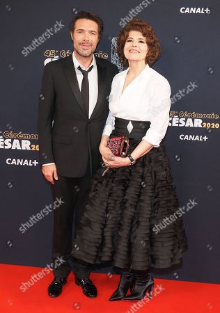 Nicolas Bedos and Fanny Ardant