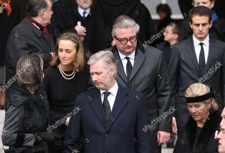Corwn Princess Mathilde, Princess Claire, Crown Prince Philippe, Prince Laurent and Princess Lea