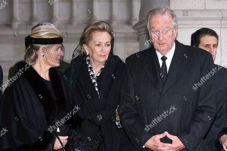 Princess Lea, Queen Paola and King Albert
