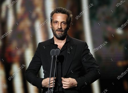 Stock Picture of Mathieu Kassovitz attends the 45th annual Cesar awards ceremony held at the Salle Pleyel concert hall in Paris, France, 28 February 2020.