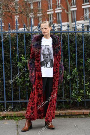 Editorial image of Street Style, Fall Winter 2020, Paris Fashion Week, France - 28 Feb 2020