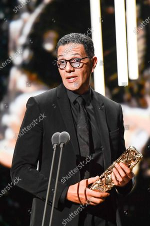 Roschdy Zem receives the best actor award during the Cesar Film Awards 2020 Ceremony At Salle Pleyel