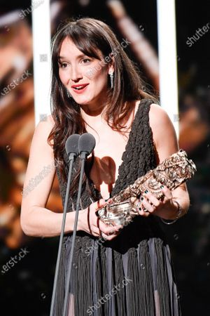Anais Demoustier receives the best actress award for 'Alice et le Maire' on stage during the Cesar Film Awards 2020 Ceremony At Salle Pleyel