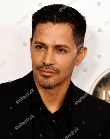 Jay Hernandez poses at the 2020 Impact Awards at the Beverly Wilshire Hotel, in Beverly Hills, Calif