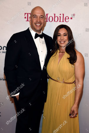 Stock Image of Dany Garcia, Hiram Garcia. Hiram Garcia, left, president of Seven Bucks Companies, and his sister Dany Garcia, co-founder of Seven Bucks Companies, pose together at the 2020 Impact Awards at the Beverly Wilshire Hotel, in Beverly Hills, Calif