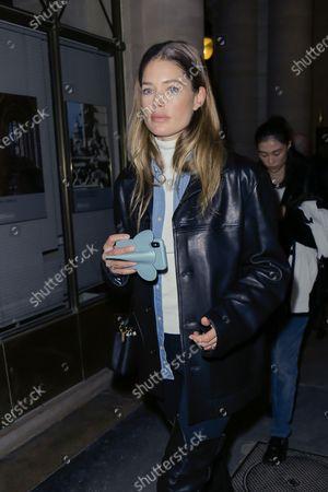 Doutzen Kroes leaving the Isabel Marant fashion show