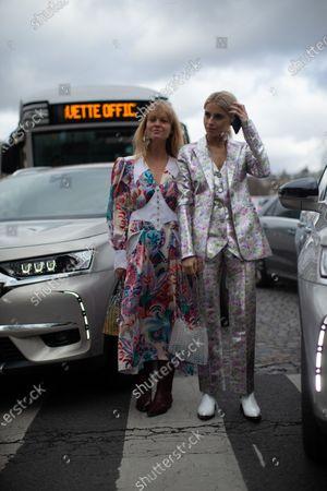 Jeanette Madsen, Caroline Daur at Paco Rabanne show