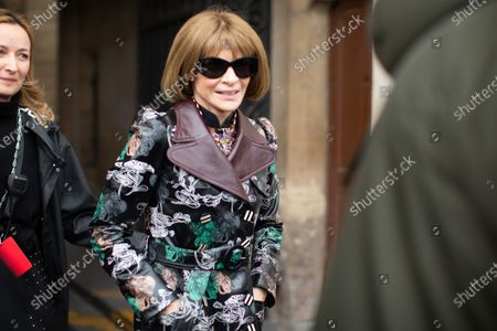 Stock Picture of Anna Wintour at the Paco Rabanne show