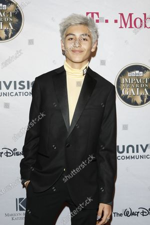 Stock Picture of Marcel Ruiz arrives for The National Hispanic Media Coalition's 2020 Impact Awards at the Beverly Wilshire Four Seasons Hotel in Beverly Hills, California, USA 28 February 2020.