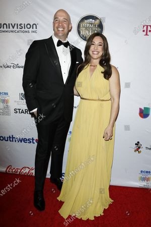 Hiram Garcia and Dany Garcia arrive for The National Hispanic Media Coalition's 2020 Impact Awards at the Beverly Wilshire Four Seasons Hotel in Beverly Hills, California, USA 28 February 2020.