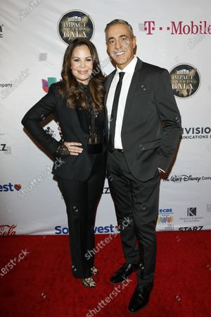 Nely Galan and Ozzie Areu arrive for The National Hispanic Media Coalition's 2020 Impact Awards at the Beverly Wilshire Four Seasons Hotel in Beverly Hills, California, USA 28 February 2020.