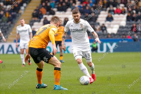 Leeds United midfielder Mateusz Klich (43)  during the EFL Sky Bet Championship match between Hull City and Leeds United at the KCOM Stadium, Kingston upon Hull
