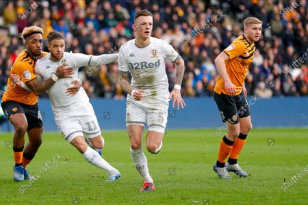 Leeds United defender Ben White (5), on loan from Brighton & Hove Albion,  during the EFL Sky Bet Championship match between Hull City and Leeds United at the KCOM Stadium, Kingston upon Hull