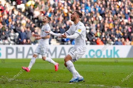 Leeds United forward Tyler Roberts (11) during the EFL Sky Bet Championship match between Hull City and Leeds United at the KCOM Stadium, Kingston upon Hull
