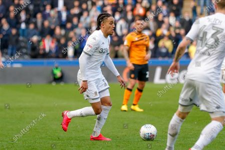 Stock Photo of Leeds United forward Helder Costa (17), on loan from Wolverhampton Wanderers,  during the EFL Sky Bet Championship match between Hull City and Leeds United at the KCOM Stadium, Kingston upon Hull