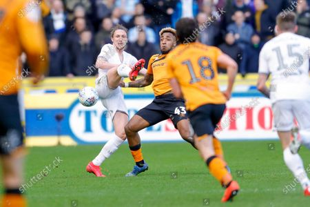 Leeds United defender Luke Ayling (2)  during the EFL Sky Bet Championship match between Hull City and Leeds United at the KCOM Stadium, Kingston upon Hull