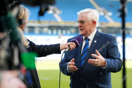 Alan Mullery speaks to BT Sport ahead of the Premier League match between Brighton and Hove Albion and Crystal Palace at the American Express Community Stadium, Brighton and Hove