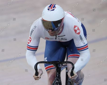 Stock Picture of Jason Kenny of Great Britain during the Men's Sprint Qualifying  at the UCI Track Cycling World Championships at the Velodrom in Berlin, Germany, 29 February 2020.