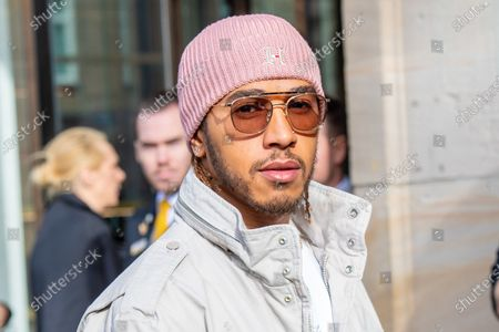 Formula 1 world champion Lewis Hamilton is a special guest at the launch of the Tommy X Lewis SP20 collection in the Bijenkorf in Amsterdam