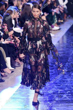 Editorial photo of Elie Saab show, Runway, Fall Winter 2020, Paris Fashion Week, France - 29 Feb 2020