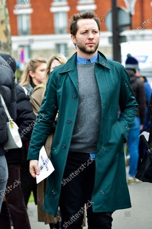 Editorial picture of Street Style, Fall Winter 2020, Paris Fashion Week, France - 28 Feb 2020
