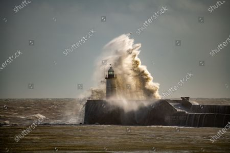 Storm Jorge, hitting the south coast at Newhaven Harbour