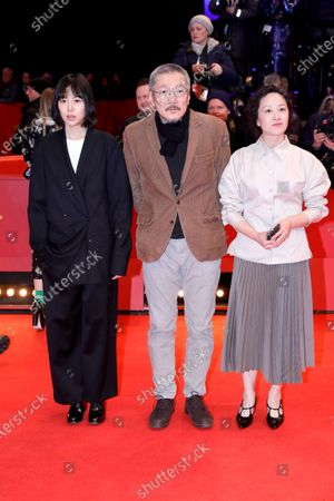 Seo Young-hwa (R), Kim Min-hee (L) and South Korean director and screenwriter Hong Sang-soo arrives for the Closing and Awards Ceremony of the 70th annual Berlin International Film Festival (Berlinale), in Berlin, Germany, 29 February 2020. The Berlinale runs from 20 February to 01 March 2020.