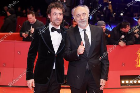 Elio Germano and director Giorgio Diritti (R) arrives for the Closing and Awards Ceremony of the 70th annual Berlin International Film Festival (Berlinale), in Berlin, Germany, 29 February 2020. The Berlinale runs from 20 February to 01 March 2020.