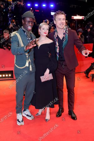Welket Bungue, Jella Haase and Albrecht Schuch arrive for the Closing and Awards Ceremony of the 70th annual Berlin International Film Festival (Berlinale), in Berlin, Germany, 29 February 2020. The Berlinale runs from 20 February to 01 March 2020.