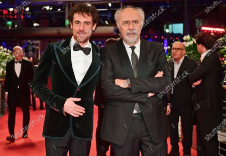 Elio Germano and director Giorgio Diritti (R) arrive for the Closing and Awards Ceremony of the 70th annual Berlin International Film Festival (Berlinale), in Berlin, Germany, 29 February 2020. The Berlinale runs from 20 February to 01 March 2020.