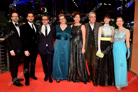 Carlo Chatrian,  Luca Marinelli, Kleber Mendonca Filho, Bettina Brokemper, Annemarie Jaci, Jeremy Irons, Berenice Bejo  and Mariette Rissenbeek arrive for the Closing and Awards Ceremony of the 70th annual Berlin International Film Festival (Berlinale), in Berlin, Germany, 29 February 2020. The Berlinale runs from 20 February to 01 March 2020.