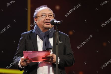 Rithy Panh winner of the  Documentary Award for 'Irradies' speaks during the Closing and Awards Ceremony of the 70th annual Berlin International Film Festival (Berlinale), in Berlin, Germany, 29 February 2020. The Berlinale runs from 20 February to 01 March 2020.
