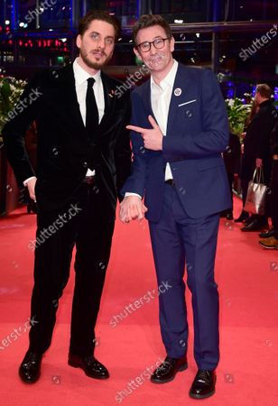 Luca Marinelli (L) and Michel Hazanavicius (R) arrive for the Closing and Awards Ceremony of the 70th annual Berlin International Film Festival (Berlinale), in Berlin, Germany, 29 February 2020. The Berlinale runs from 20 February to 01 March 2020.