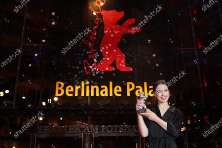 Paula Beer, winner of the Silver Bear for Best Actress for 'Undine' celebrates after the Closing and Awards Ceremony of the 70th annual Berlin International Film Festival (Berlinale), in Berlin, Germany, 29 February 2020. The Berlinale runs from 20 February to 01 March 2020.