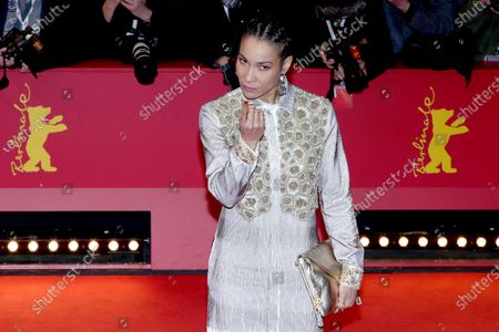 Annabelle Mandeng arrives for the Closing and Awards Ceremony of the 70th annual Berlin International Film Festival (Berlinale), in Berlin, Germany, 29 February 2020. The Berlinale runs from 20 February to 01 March 2020.