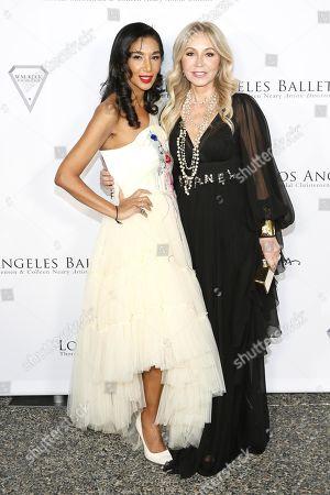 Stock Picture of Gelila Assefa and Anastasia Soare