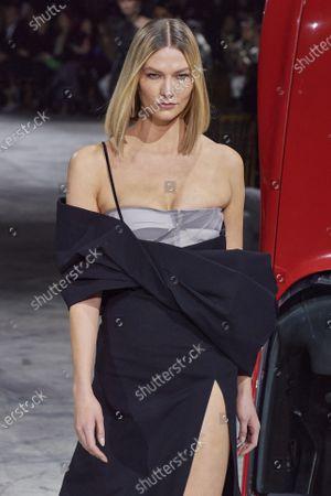 Stock Image of Karlie Kloss on the catwalk