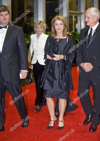 William Kennedy, Caroline Kennedy, husband Edwin Schlossberg, and Ambassador Jean Kennedy Smith (white jacket)
