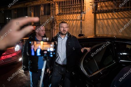 Slovak Prime Minister and election leader of the Direction - Social Democracy (Smer-SD) party, Peter Pellegrini arrives to his election headquartes in Bratislava, Slovakia, 29 February 2020. Following the second anniversary of the murder of Slovak journalist Jan Kuciak, Slovakia will vote on 29 February to elect all the 150 members of the National Council. Slovak opposition movement OLaNO became the strongest party in the survey of election preferences before the elections. OLaNO pushed in second place the strongest government party Direction-Social Democracy (SMER-SD), which has dominated surveys of political parties in Slovakia over the past more than 15 years, media reported.