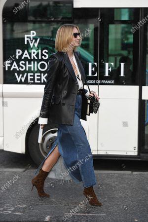 Editorial image of Street Style, Fall Winter 2020, Paris Fashion Week, France - 29 Feb 2020