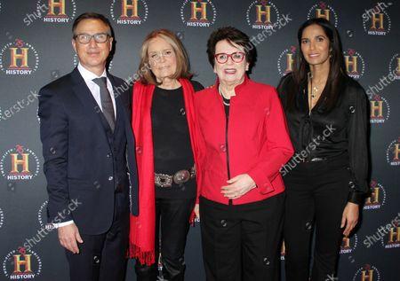 Paul Buccieri, Gloria Steinem, Billie Jean King and Padma Lakshmi