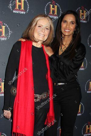 Gloria Steinem and Padma Lakshmi