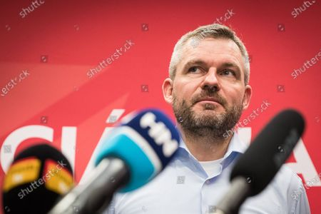 Slovak Prime Minister and election leader of the Direction-Social Democracy (SMER-SD) party, Peter Pellegrini attends a press conference in his election headquartes in Bratislava, Slovakia, 01 March 2020. Following the second anniversary of the murder of Slovak journalist Jan Kuciak, Slovakia voted on 29 February to elect all the 150 members of the National Council. Slovak opposition movement OLANO (Ordinary People and Independent Personalities) became the strongest party in the survey of election preferences before the elections. OLANO pushed in second place the strongest government party Direction-Social Democracy (SMER-SD), which has dominated elections of political parties in Slovakia over more than the past 15 years, media reported.