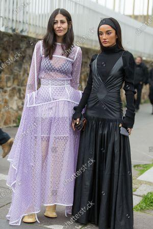 Gilda Ambrosio and Amina Muaddi