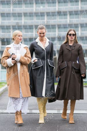 Stock Picture of Amber Valletta, Karlie Kloss and Doutzen Kroes