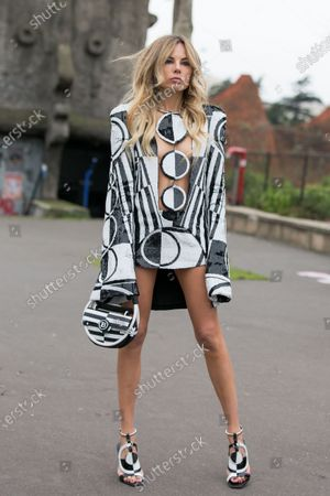 Editorial photo of Street Style, Fall Winter 2020, Paris Fashion Week, France - 28 Feb 2020