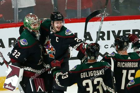 Editorial image of Sabres Coyotes Hockey, Glendale, USA - 29 Feb 2020